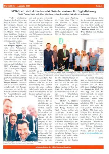 SPD-Stadtratsfraktion besucht Gründerzentrum für Digitalisierung