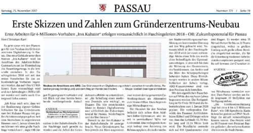 Erste Skizzen und Zahlen zum Gründerzentrums-Neubau