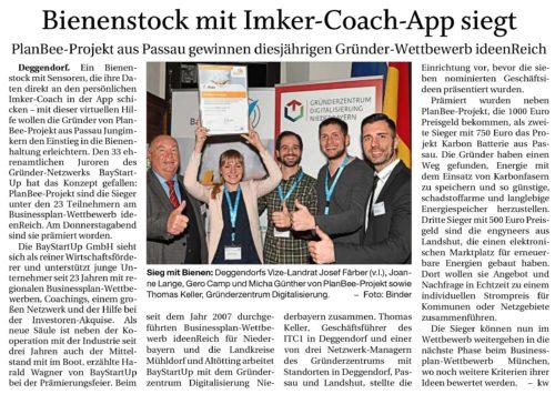 Bienenstock mit Imker-Coach-App siegt