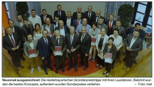 Niederbayerischer Gründerpreis | Platz 2 für Smartricity