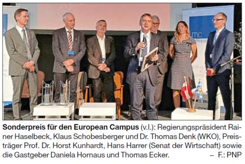 """""""Zwei Länder Preis"""" für INN.KUBATOR Passau und European Campus Pfarrkirchen"""
