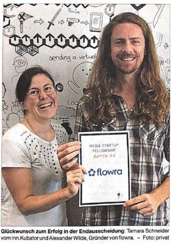 Alexander Wilde gewinnt mit Flowra MediaLab Wettbewerb