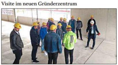 Die Hülle des neuen Gründerzentrums INN.KUBATOR Passau steht