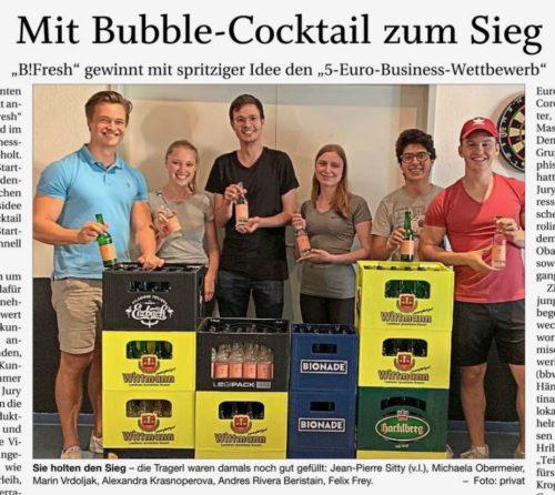 Mit Bubble-Cocktail zum Sieg