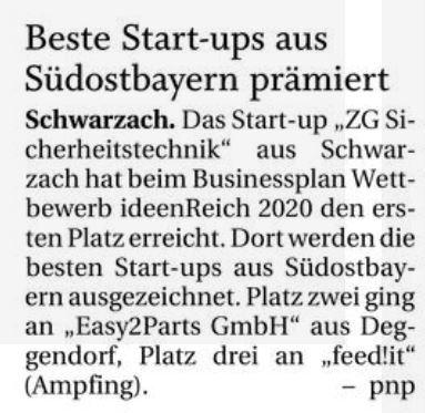 Beste StartUps aus Südostbayern prämiert