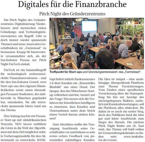 Digitales für die Finanzbranche