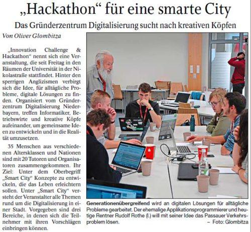 """""""Hackathon"""" für eine smarte City"""