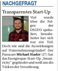 Transparentes StartUp