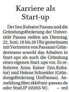 Karriere als Startup