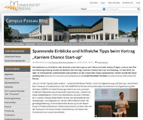 """Spannende Einblicke und hilfreiche Tipps beim Vortrag """"Karriere Chance StartUp"""""""
