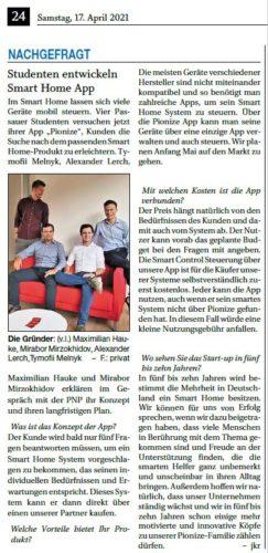 Studenten entwickeln Smart Home App