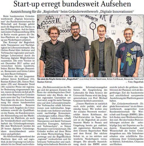 Start-up erregt bundesweit Aufsehen