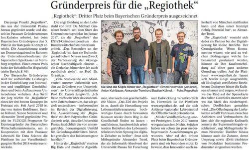 """Gründerpreis für die """"Regiothek"""""""
